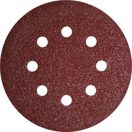 Круг фибровый (цеплялка) ПРАКТИКА 031-488 125мм 8отв. Р40 5шт. fit 12201