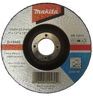 Круг шлифовальный MAKITA 125x22,23x6 мм (D-18465)
