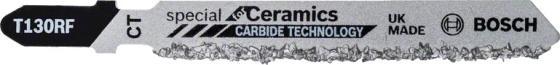 цена на Пилка для лобзика BOSCH T130 Riff (2.608.633.104) керамика, 83мм, напыление HM 30, 3шт