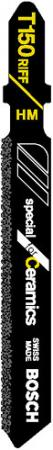 Пилка для лобзика BOSCH T150 Riff (2.608.633.105) керамика, 83мм, напыление HM 50, 3шт пилки для лобзика bosch 83мм 3шт t130riff special for ceramics 2 608 633 104
