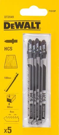 купить Пилки для лобзика DeWALT DT2049-QZ по дереву HCS T 101 DP, 5шт. дешево