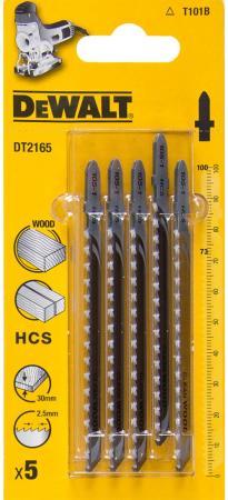 Пилки для лобзика DeWALT DT2165-QZ по дереву HCS T 101 B, 5шт.
