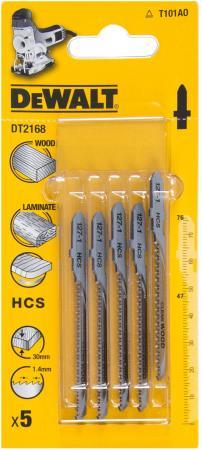 Пилки для лобзика DeWALT DT2168-QZ по дереву HCS T 101 AO, 5шт.