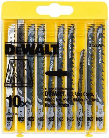 цена на Набор пилок DeWALT DT2290-QZ по дереву HСS (10шт.)