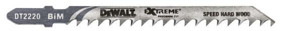Пилка д/лобзика DEWALT DT2220-QZ п/дер.XPC BIM 100x75x4.0x60 мм, T144DF, 3шт пилка для лобзика по алюминию xpc bim 100x75x3 0x30 3шт dewalt dt2221 qz dt2221 qz