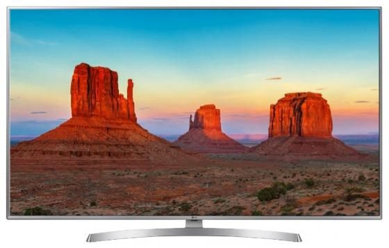 Телевизор 50 LG 50UK6510PLB серебристый черный 3840x2160 50 Гц Wi-Fi Smart TV RJ-45 Bluetooth телевизор 50 lg 50uk6710 4k uhd 3840x2160 smart tv usb hdmi bluetooth wi fi серебристый