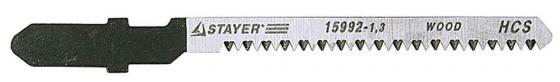 Пилки для лобзика STAYER PROFI 15992-1.3_z01 HCS по дер. фанере ламинату фигур.рез EU-хвост.2шт. пилки для электролобзика stayer profi 15992 1 3 z01