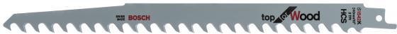 Полотно для сабельной пилы BOSCH S 1542 K (2.608.650.681) дерево, 240мм, HCS, 5зуб/дюйм, 2шт. полотно для сабельной пилы metabo 631120000 s644d 2шт hcs 150x1 25 4 0мм дерево