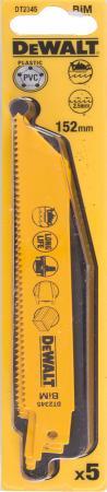 Полотна для сабельной пилы DeWALT DT2345-QZ биметаллические, универсальные S 922 HF 5шт. полотно для сабельной пилы dewalt dt2976 qz