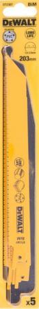 Полотна для сабельной пилы DeWALT DT2387-QZ биметаллические универсальные S 1122 VF 5шт. полотно для сабельной пилы dewalt dt2976 qz