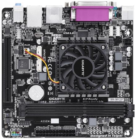 Материнская плата GigaByte GA-E3000N с процессором AMD 2xDDR3 1xPCI 2xSATAIII mini-ITX Retail mini stil besprovodnye bluetooth naushniki ga
