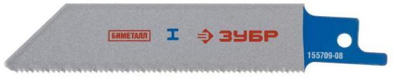 Полотно для сабельной пилы ЗУБР S522EF ЭКСПЕРТ BiMet нерж.сталь цв.металл 80/1.4мм