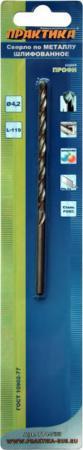 Сверло по металлу ПРАКТИКА 774-733 4.2х119мм удлиненное, в блистере сверло по металлу практика 774 719 3 5х112мм удлиненное