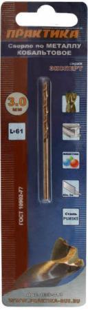 Сверло по металлу ПРАКТИКА 033-413 3.0х61мм кобальтовое, в блистере сверло по металлу практика 033 185 3 3х65мм