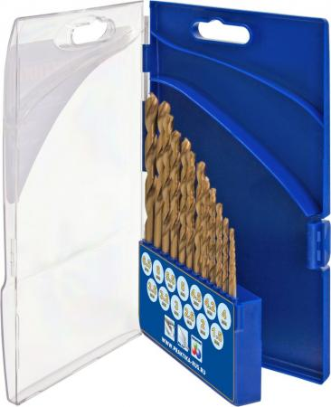 Набор сверл ПРАКТИКА 640-285 металл, нитрид титана, 13шт.: 1.5-6.5+3.2,4.2мм, ПРО кассета, Профи дальномер практика дл 30 640 162