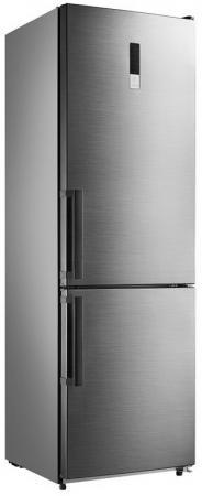 Холодильник SHIVAKI BMR-1883DNFX серебристый холодильник shivaki shrf 56chs однокамерный серебристый