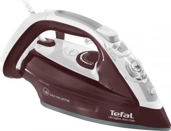 цена на Утюг Tefal FV4961E0 2500Вт белый бордовый