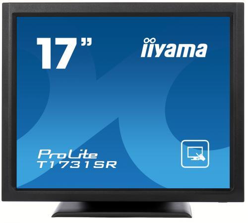 Монитор 17 iiYama T1731SR-B1 черный TN 1280x1024 200 cd/m^2 5 ms DVI VGA Аудио USB монитор 22 lg 22m38d b черный tn 1920x1080 200 cd m^2 5 ms vga dvi