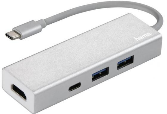 Концентратор USB 3.1 HAMA Aluminium H-135756 3 х USB 3.1 белый aluminium alloy 2mp zoom 1 500x continous focal usb microscope handheld endoscope