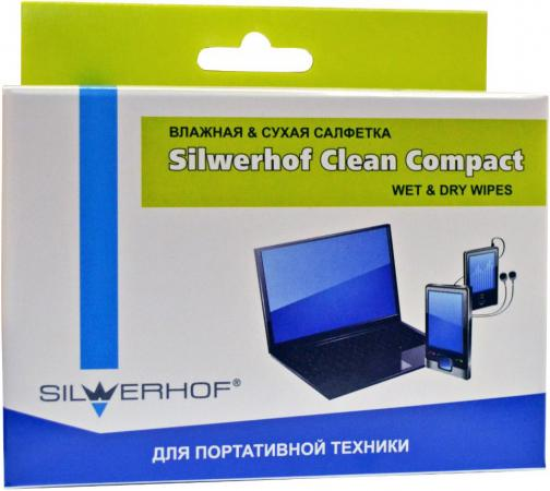 Чистящие салфетки Silwerhof 671204 20 шт чистящие салфетки silwerhof notebook clean 100 шт 671203