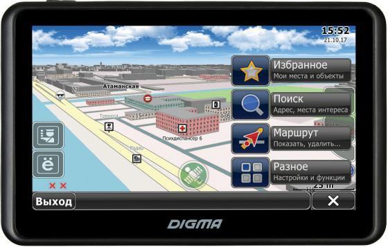 Фото Навигатор Digma Alldrive 707 7 800x480 microSD CityGuide черный сотовый телефон digma linx a177 2g
