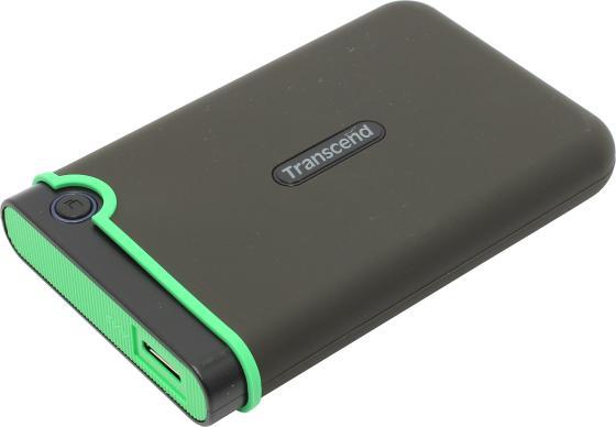 Внешний жесткий диск 2.5 USB3.1 1 Tb Transcend StoreJet 25M3G TS1TSJ25M3G милитари зеленый внешний жесткий диск storejet 25d3 1 тб ts1tsj25d3w белый