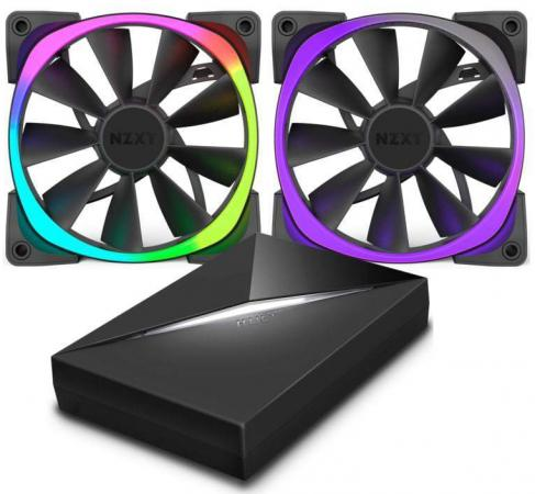 Фото Вентилятор NZXT Aer RGB 120 & HUE+ 3 IN 1 RF-AR120-C1 120x120x25mm 500-1500rpm
