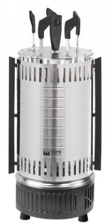 Электрошашлычница HOME ELEMENT HE-EB740 серый гранит цена