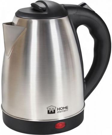Чайник HOME ELEMENT HE-KT183 1500 Вт серебристый чёрный 1.7 л нержавеющая сталь цена и фото