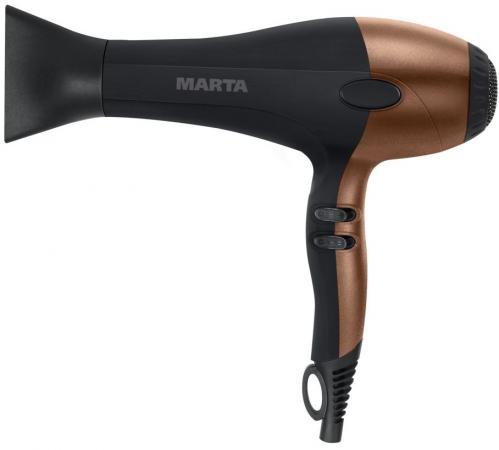 Фен Marta MT-1426 2000Вт золотистый чёрный маринатор marta mt 2090