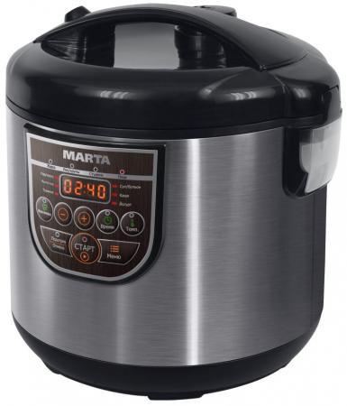 Мультиварка Marta MT-4322 860 Вт 5 л черный серебристый MT-4322 мультиварка marta mt 1981 белый серебро