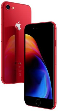 Смартфон Apple iPhone 8 красный 4.7 256 Гб NFC LTE Wi-Fi GPS 3G MRRN2RU/A смартфон apple iphone x 256 гб серый mqaf2ru a