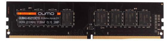 Оперативная память 8Gb PC4-17000 2133MHz DDR4 DIMM QUMO QUM4U-8G2133CC15 оперативная память 8gb pc4 17000 2133mhz ddr4 dimm dell 370 acfvt