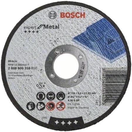 Отрезной круг Bosch 115х2.5мм 2608600318 отрезной круг bosch 355х25 4мм 2608601238