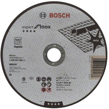Отрезной круг Bosch 180x1.6мм 2608603406 отрезной круг bosch 355х25 4мм 2608601238