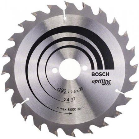 Пильный диск Bosch STD WO 190x30-24T 2608640615 диск пильный bosch multimaterial 2608640510