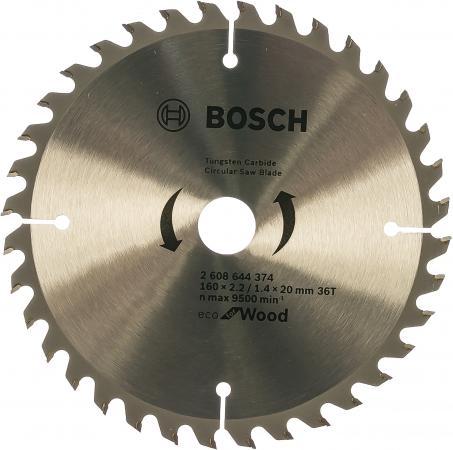 Пильный диск Bosch ECO WO 160x20/16-36T 2608644374 пильный диск precision gp wo h 160x20 16 18 bosch 2609256855