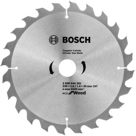 Пильный диск Bosch ECO WO 230x30-24T 2608644381 диск пильный bosch multimaterial 2608640510