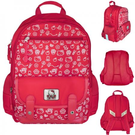 Рюкзак HELLO KITTY, разм.40х30х13 см, красный, уплотненная рельефная спинка, светоотраж. элементы, цена