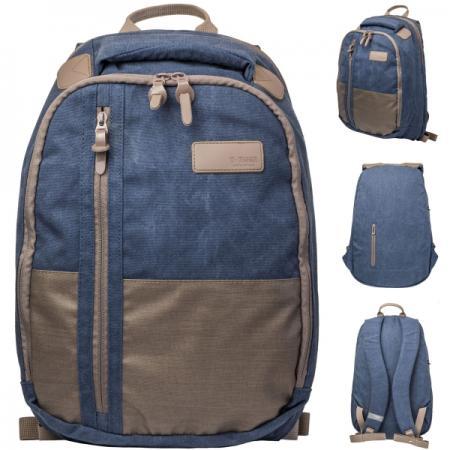 Рюкзак городской T-TIGER COLLECTION, разм.46x29x17см, анат.спинка, темно-синий, коричневый цена и фото