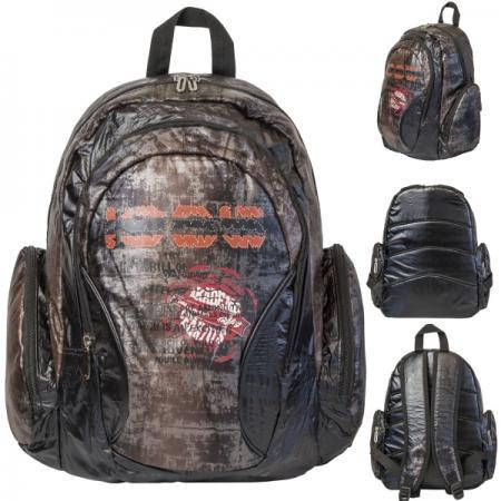 Рюкзак, уплотненная спинка, разм. 29 х 19 х 41 см, коричневый