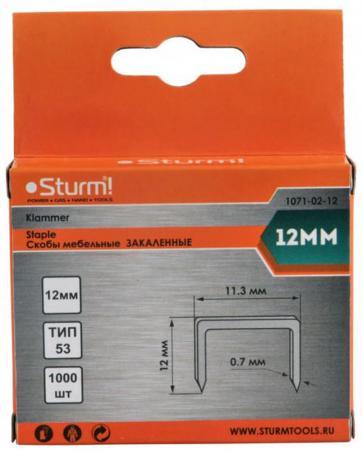 цена на Скобы для степлера Sturm 12 мм 1000 шт
