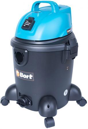 Промышленный пылесос BORT BSS-1220 сухая влажная уборка синий чёрный bort bss 1010 98291780 пылесос промышленный blue