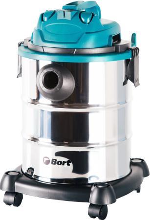 Промышленный пылесос BORT BSS-1325 влажная сухая уборка синий чёрный