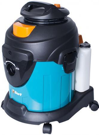 Промышленный пылесос BORT BSS-1415-W влажная сухая уборка чёрный синий цена