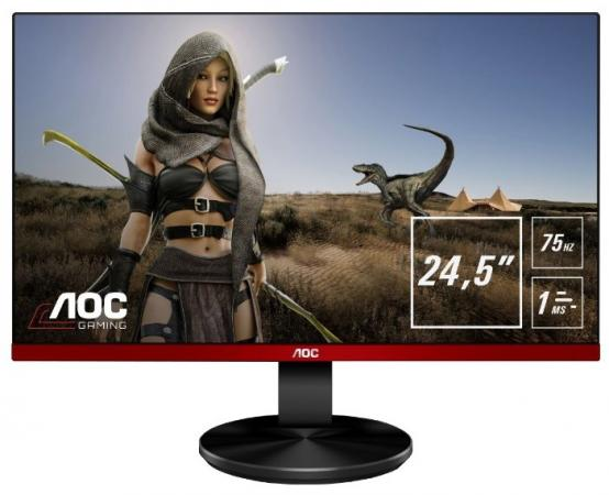 Монитор 25 AOC G2590VXQ черный TN 1920x1080 250 cd/m^2 1 ms HDMI DisplayPort VGA Аудио монитор 23 6 aoc e2475pwj 01 черный tn 1920x1080 250 cd m^2 2 ms dvi hdmi vga аудио
