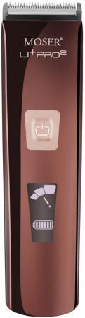 Машинка для стрижки волос Moser Li+Pro2 1888-0050 коричневый чёрный moser машинка для стрижки аккумулятор li ion chrom style черная