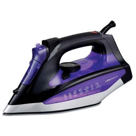 Утюг VES Electric VES S-108 2400Вт фиолетовый чёрный пароочиститель ves electric v st03 1550вт фиолетовый чёрный