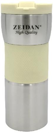 Термокружка Zeidan Z-9056 0,45л серебристый жёлтый