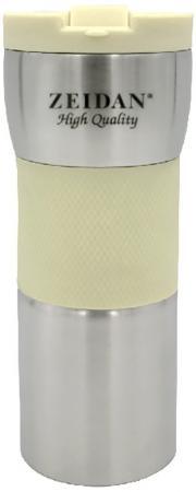 Термокружка Zeidan Z-9056 0,45л серебристый жёлтый термокружка zeidan z 9056 0 45л серебристый жёлтый